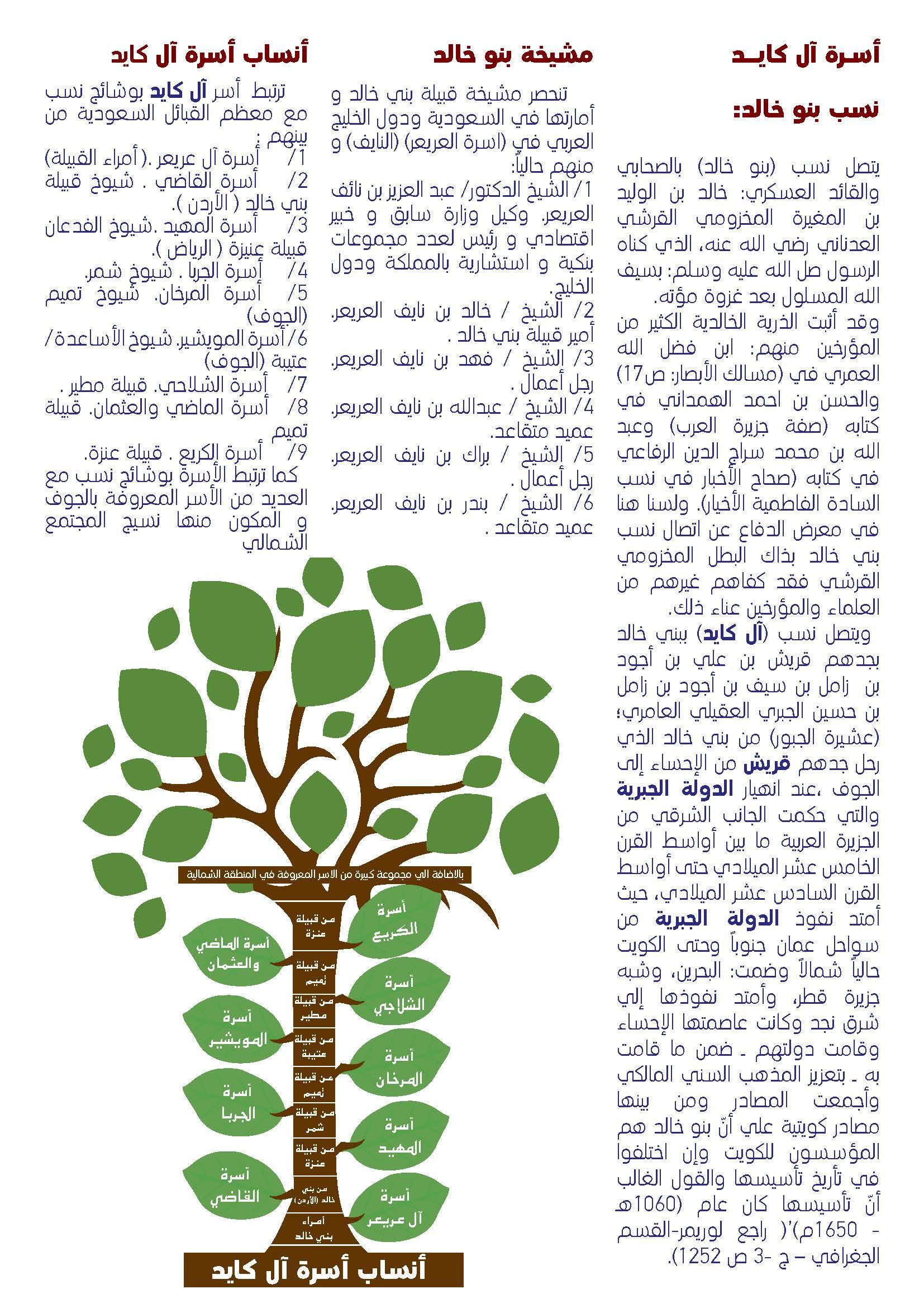 شجرة بني خالد بالجوف